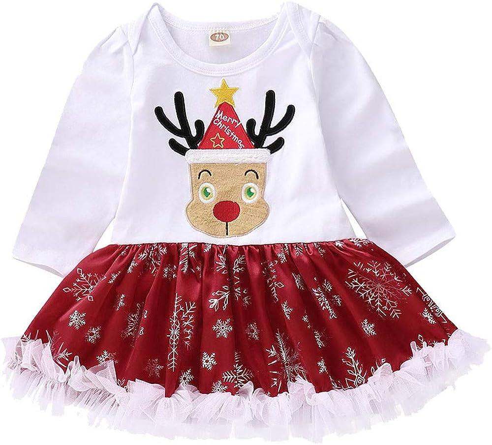 Amazon.com: TLoowy Baby Christmas Dress, Toddler Infant Girl Cute