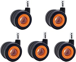 castors Office Chair Casters Heavy Duty Wheels Universal Swivel 2.5 Inches 60mm 600lb Silence M11 Stem for Computer Chair ...