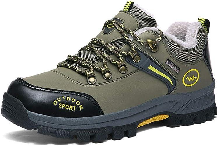 Hommes Chaussures de Randonnée,Hiver Outdoor chauds Trekking Promenades Sports baskets Femme Antichoc Antidérapant Chaussures