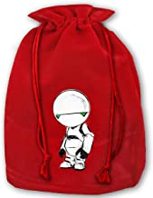 Hitchhikers Guide to The Galaxy Paranoid Android Christmas Drawstring Bag Gift Bags Santa Sack for Christmas Party Decoration