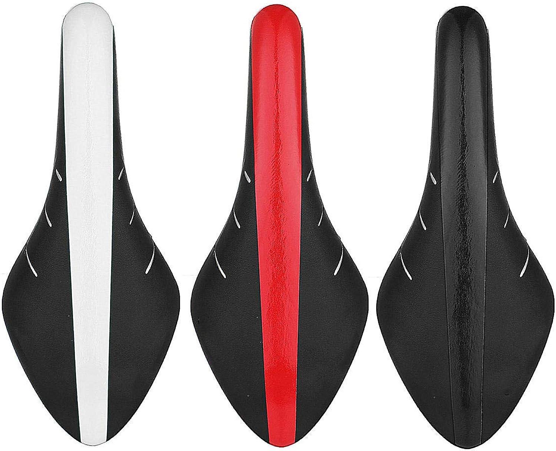 New Comfortable PU Leather MTB Cycling Road Bike Saddle Soft Seat Cushion Alloy Rails  Black