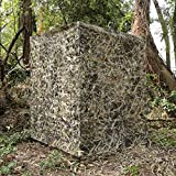 Auscamotek Ground Blind 5×10 Feet Duck Blinds Camouflage Waterfowl Hunting Height Adjustable