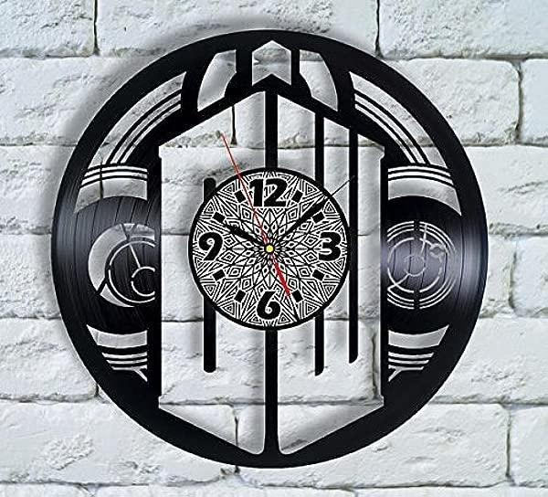 世卫组织医生时钟 Tardis 盒乙烯基时钟世卫组织医生家庭时钟墙壁装饰世卫组织医生爱世卫组织医生手表