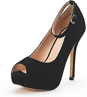 Women's Swan-10 High Heel Plaform Dress Pump Shoes