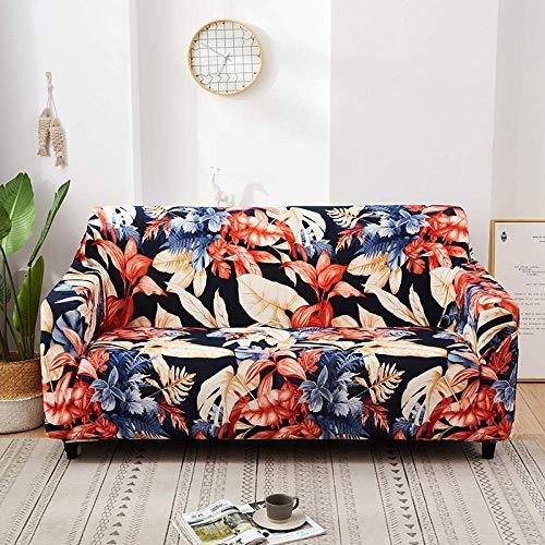 L.TSA Funda de sofá elástica de Tela elástica, elástica para Sala de Estar Funda de sofá de Licra Antideslizante Funda de sofá elástica-11_90-140cm, Fundas de sofá seccionales con Correas elástica