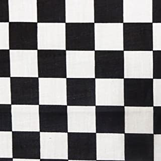 Black Racing Checkered Poly Cotton, 58