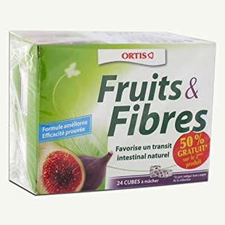 Ortis Fruits & Fibres Squares to Chew 2 x 24 Squares by Ortis