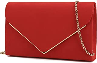 6a0dc1b75e79 Charming Tailor Faux Suede Clutch Bag Elegant Metal Binding Evening Purse  for Wedding Prom