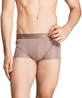 MESHIKAIER 100% Mulberry Silk Men's Boxer Briefs Elastic Underwear Underpants Breathable and Healthy