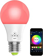 HaoDeng Smart LED WiFi Light, e27 a19 Edison Bulb -Timer & Sunrise & Sunset - Dimmable, Multicolor, Warm White - No Hub Re...