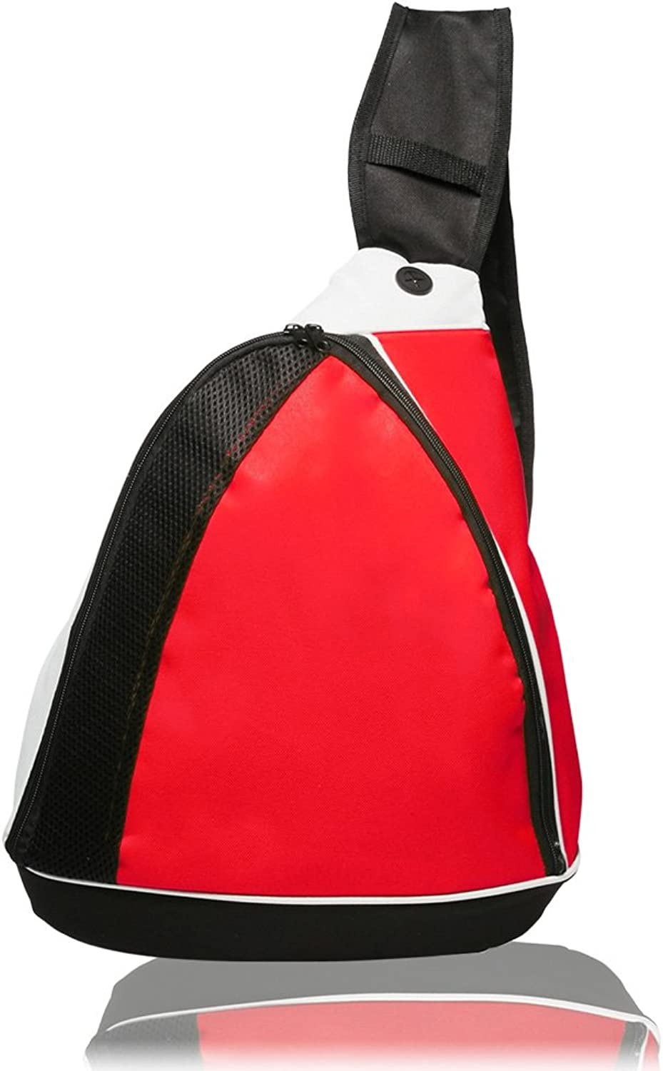 TwoTone Side Sling Backpack, Red
