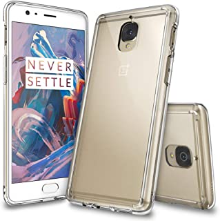 Ringke Fusion Compatible with OnePlus 3T / OnePlus 3 Case Crystal Clear PC Back TPU Bumper Drop Protection, Shock Absorption Technology Raised Bezels Cover for OnePlus Three, OnePlus 3T – Clear