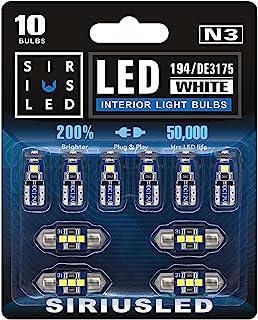 SIRIUSLED N3 DE3175 31MM 194 168 2825 Combo LED bulbs white Super Bright 300 Lumens 3030 Chipset for Japanese Car Truck In...