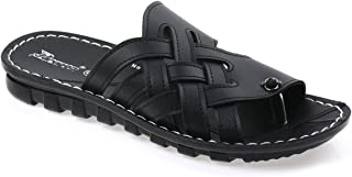 Paragon Men's Black Flip-Flops-11 UK/India (45 EU)(PU6729T)
