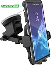 Galaxy S9 Plus Car Mount (case Friendly) XL Vehicle Phone Holder - Fully Adjustable Windshield & Dashboard Mountable (by Encased for Samsung S9+)