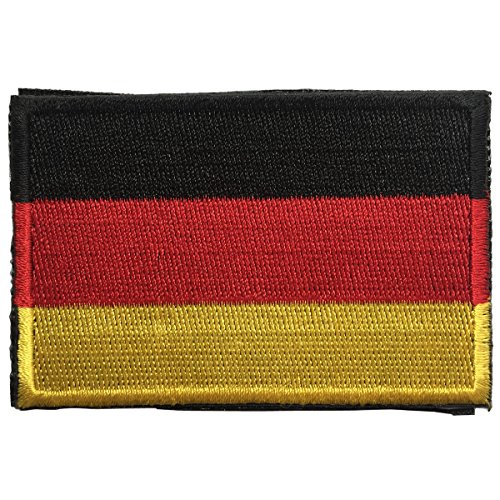 SpaceAuto Flag of Germany Military Tactical Morale Badge Hook & Loop Badge Patch 3' x 2' - Federal Republic of Germany