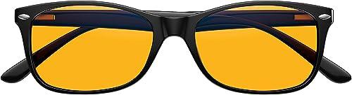 Swannies Premium Blue Light Blocking Computer Glasses with Orange Lens for Night Use - UV Protection Anti Eye Strain ...