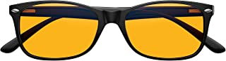 Swanwick - Night Swannies Classic - Blue Light Blocking Glasses - One Size Fits Most - Relieve Tired Eyes, Reduce Eye Strain, Experience Better Sleep