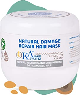 The Moms Co. Natural Damage Repair KA+ Deep Conditioning,Intense Moisturising Hair Mask with Keratin and Moroccan Argan Oil to Repair Dry Damaged Hair-175ml