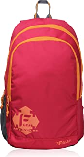 F Gear Castle Rugged Base Red Orange 22 Ltrs Casual Backpack (2060)