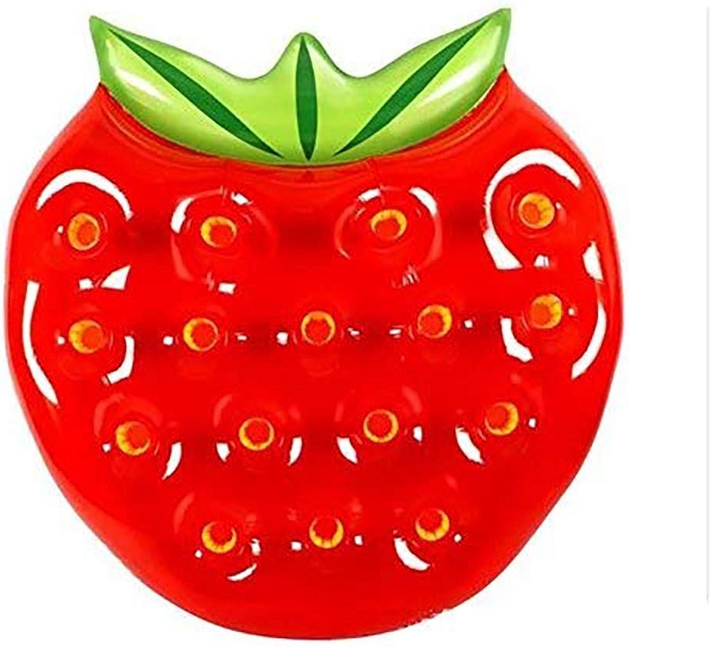 FXQIN Aufblasbare Erdbeere schwimmende Reihe, Schwimmbad Float raft Erwachsene schwimmring liegestühle Strand Wasser Unterhaltung Spielzeug für Erwachsene und Kinder