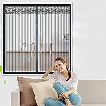 Zelfklevend magnetisch raamscherm, Ventileer antistof, Met Magic Tape, Glasvezel Anti Mosquito Bug Insect Fly Window Curta...