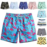 MaaMgic Mens Quick Dry Flamingo Swim Trunks With Mesh Lining...