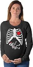 Tstars Maternity Skeleton Baby Halloween Costume Pregnancy Long Sleeve Shirt for Moms