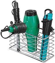 mDesign Soporte para secador de pelo en alambre de metal –