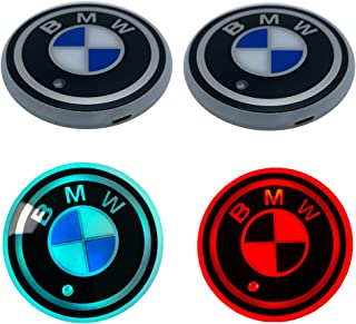 Coolsport (Upgraded Ver 2PCS LED Cup Holder Mat Pad Coaster 7 Colors with USB Changing Interior Decoration Light Fit BMW Accessories