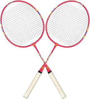 Guru Toy Magic BS03 pack of Two Racket Badminton Set size, 24 inch With cover (Pink)