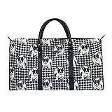 Bunte große Reisetasche von Signare / Gobelin-Gepäcktasche für Reisen und Sport / Französische Bulldogge (BHOLD-FREN)