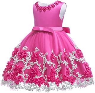 Baby Girl Flower Dress Infant Party Pageant Wedding Princess Tulle Baptism Easter Dresses 3-24 M