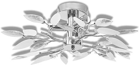 vidaXL Lámpara de Techo Original E14 con Forma de Hojas Blanco y Transparente