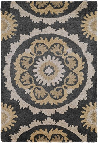 B. Smith Rugs Mosaic Charcoal/Butter Rug Rug Size: 9' x 13'