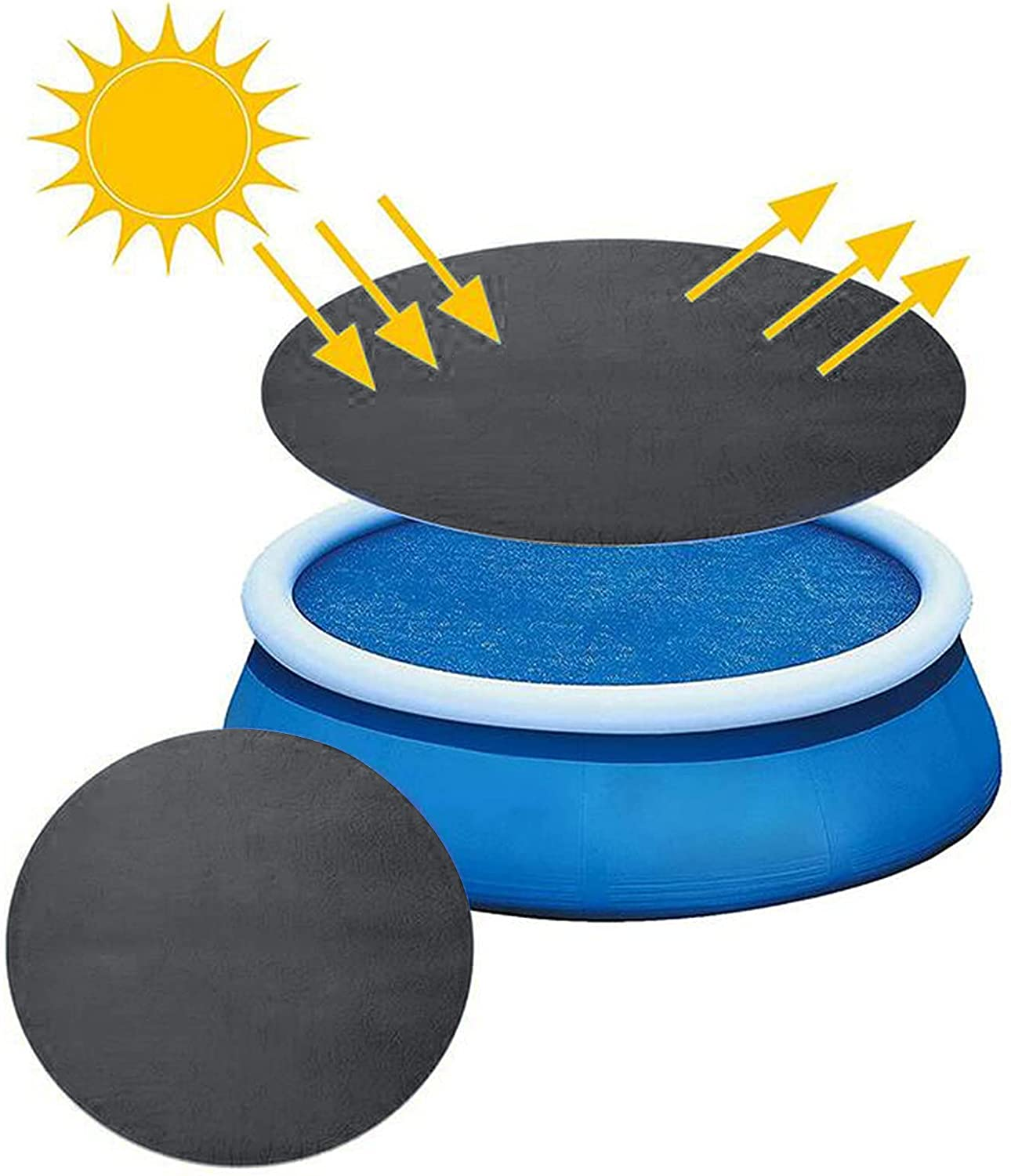 FASESH 4 years warranty Solar Round Pool Oklahoma City Mall Cover for 12 8 E 10 Diameter 15ft
