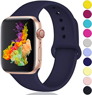 Rabini Compatible with Apple Watch Band 40mm 38mm 44mm 42mm for Women Men, Replacement Accessory Sport Band for Apple/iWatch Series 5, Series 4, Series 3, Series 2, Series 1