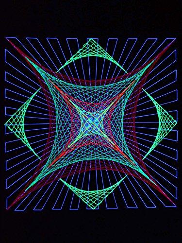 PSYWORK Neon Day - Guirnalda de Luces (90 cm)