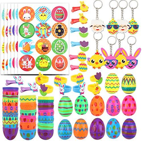 HOWAF Huevo de Pascua, Huevos de Plástico Colores Rellenables para Pascua, Decoración de Huevos de Pascua, para la Búsqueda de Huevos de Pascua, niños Regalos de Fiesta Pascua