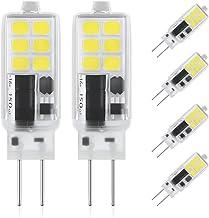 DiCUNO G4 LED-lamp 2W, AC/DC 12V met 240 Lumen, 12 * 2835, Vervanging voor 25W halogeenlampen, Koud wit 6000K, Niet dimbaa...