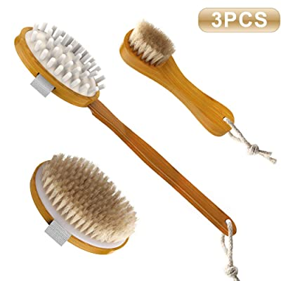 Dry Brushing Body Brush Set for Dry Skin Brushi...