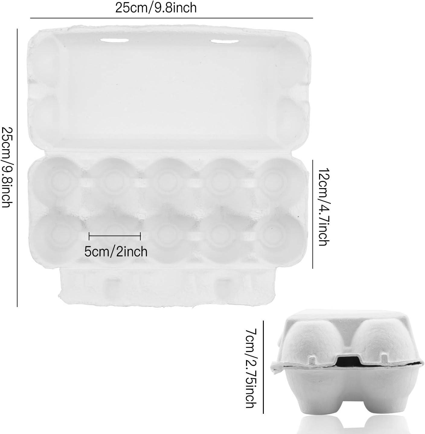 10 Cell 20 Pack Empty Egg Cartons,Biodegradable Egg Holders Egg carton farm Freshies Empty Egg Cartons