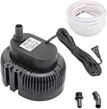 Lnicez 850 GPH Swimming Pool Cover Pump Above Ground,Including 16' Drainage Hose and 3 Adapters,Ideal for Water Removal,Black