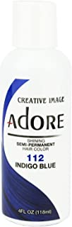 Adore Semi-Permanent Haircolor #112 Indigo Blue 4 Ounce (118ml)