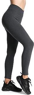 4How Damen Sport Leggings Lang blickdichte Baumwollleggings Fitness Yoga Pants S-XL