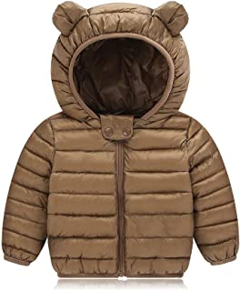 ASHOP Ropa Bebe, Niño Niña Chaqueta de Nieve Gruesa con Orejas con Capucha Impermeable Abrigo para 0-4 Años