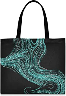 MONTOJ Damen-Handtasche aus Segeltuch, Grün