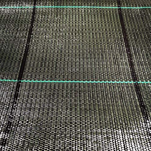 ITALFROM Teli Telo per PACCIAMATURA Nero QUADRETTATO Tessuto Polipropilene ANTISTRAPPO - mt 20 x 1,05 h