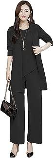 [ミニマリ] パンツスーツ 3点セット きれいめ ジャケット シフォンブラウス フォーマル パンツ 通勤 セットアップ レディース