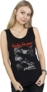 A Nightmare On Elm Street Women's Freddy Black and White Photo Tank Top